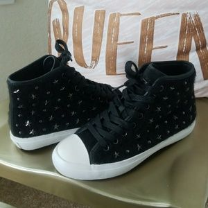 Coach Emerald Black Star High Top Sneakers